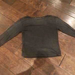 Gray and black striped Brandy Melville shirt